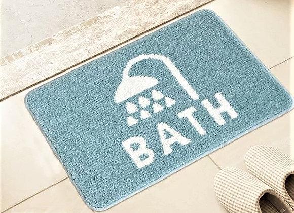 Blue Shower Bath Mat