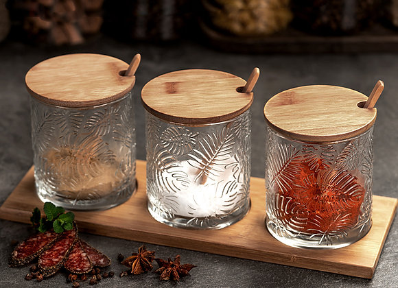 Tropical Spice Canister (Set of 3) - Bamboo