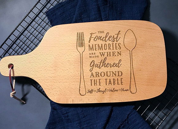 Fondest Memory Engraved Chopping Board (Over 1/4)