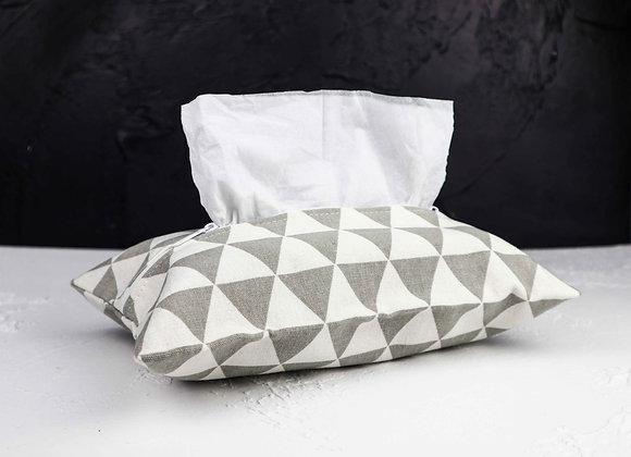 Grey & White Triangle Tissue Cover