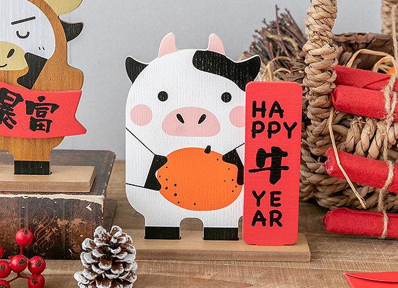 Happy 牛 Year Ox Table Décor