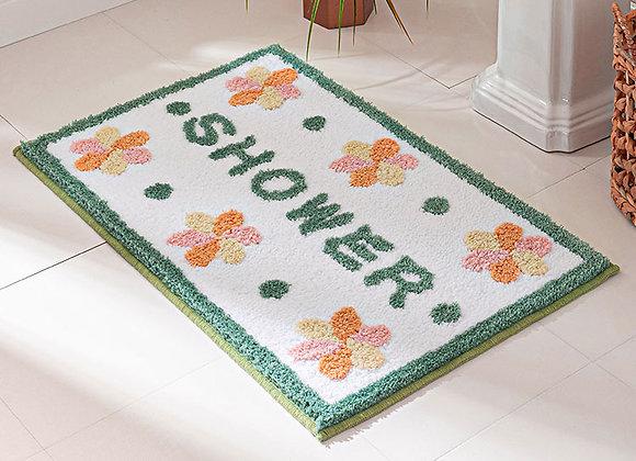 Floral Shower Bath Mat