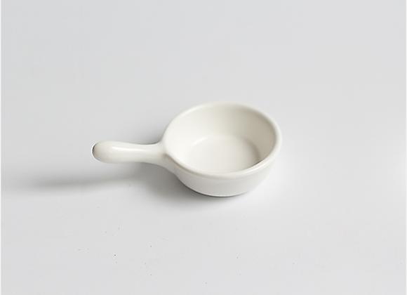 Mini Ceramic Pan Saucer - White