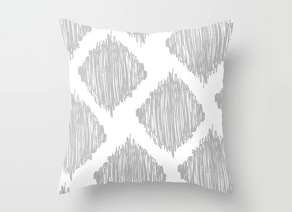 Grey Diamond Cushion Cover