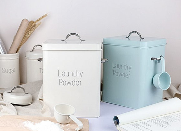 Laundry Powder Metal Tin