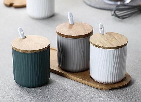 Tricolour Spice Storage Canister