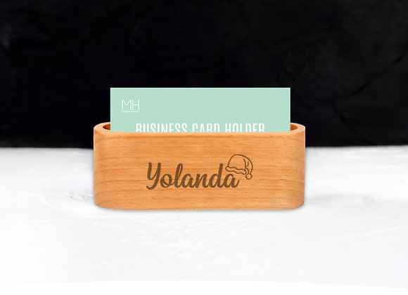 Personalised Christmas Icon Card Holder