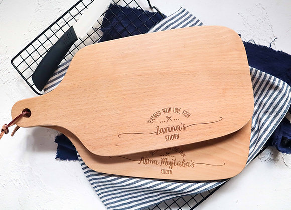Seasoned with Love Engraved Chopping Board (Under 1/4)