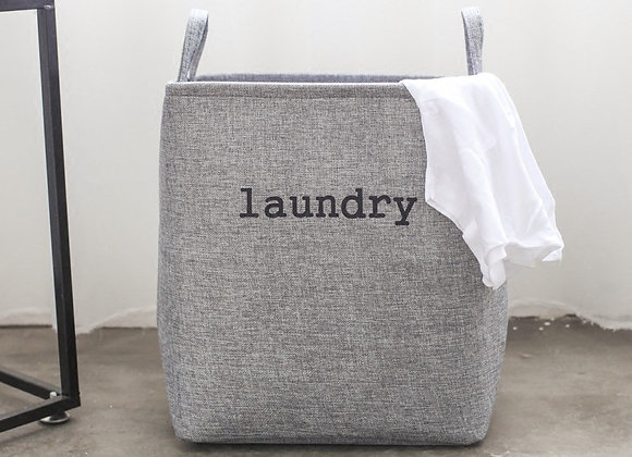 Minimalist Grey Laundry Basket