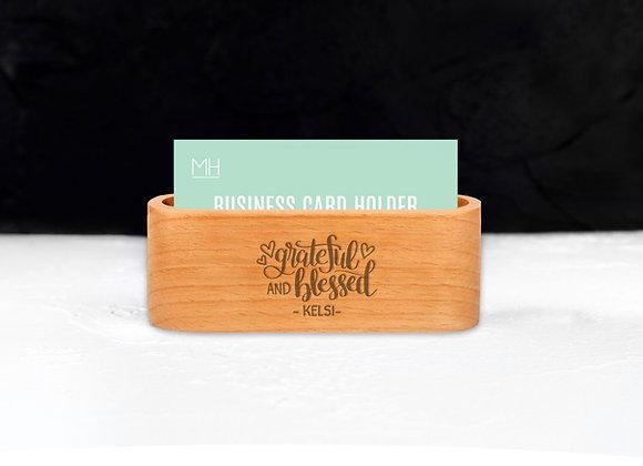 Personalised Grateful & Blessed Card Holder