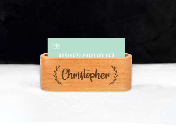 Wreath Name Card Holder