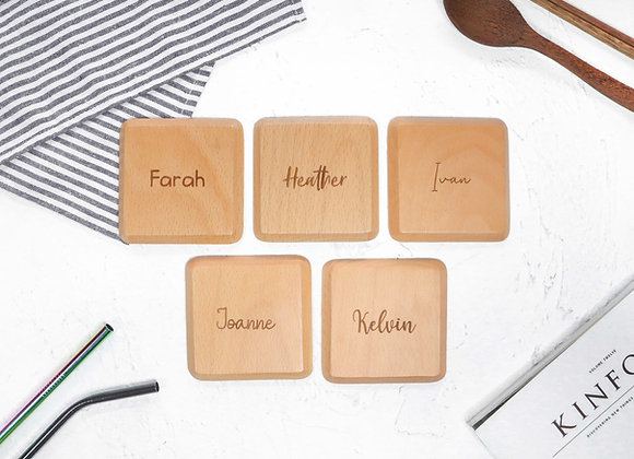 NAME ONLY Prism Coaster - Beech