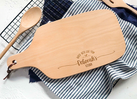 Baked with Love Engraved Chopping Board (Under 1/4)