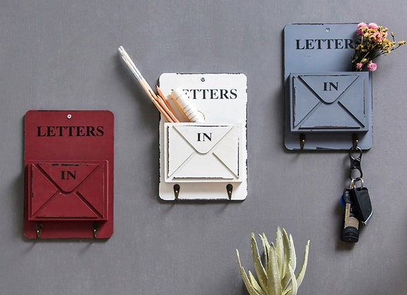 Vintage Wall Letter Box And Key Holder