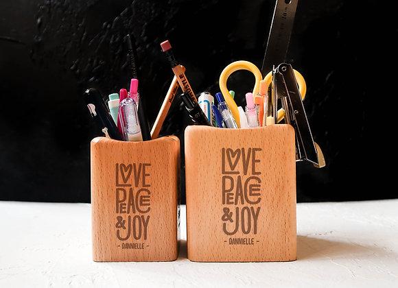 Love Peace Joy Stationery Holder