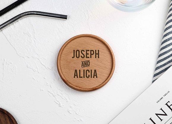 Couple Name Coaster