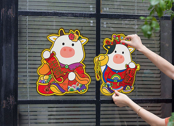 Fortune Ox Couple CNY Decoration