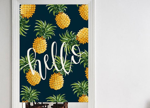 Hello Pineapple Door Curtain