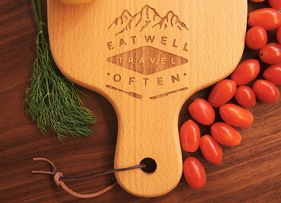 Eat Well Travel Often Engraved Chopping Board