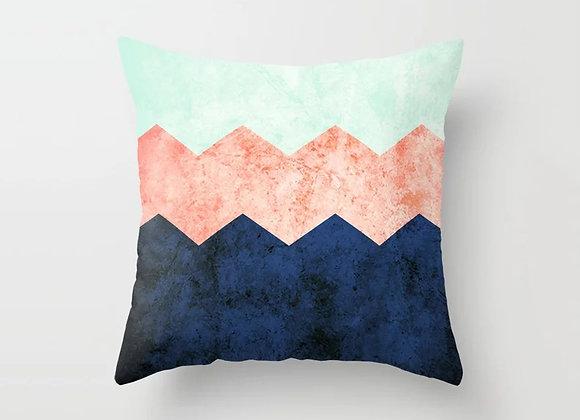 Colourblock Chevron Cushion Cover