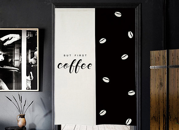 But First, Coffee Door Curtain