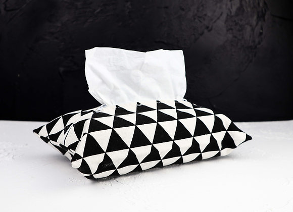 Black & White Triangle Tissue Cover