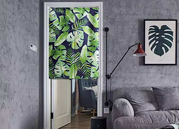 Split Leaves Door Curtain