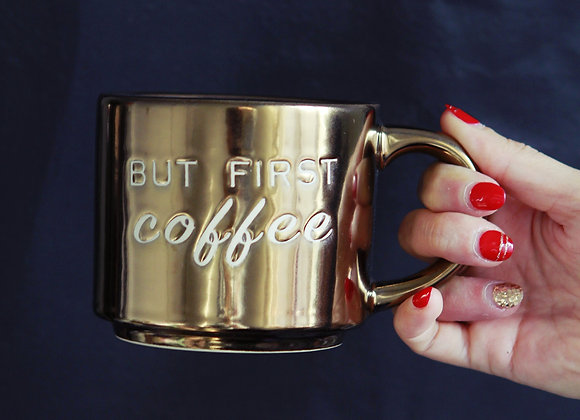 But First, Coffee Bronze Mug
