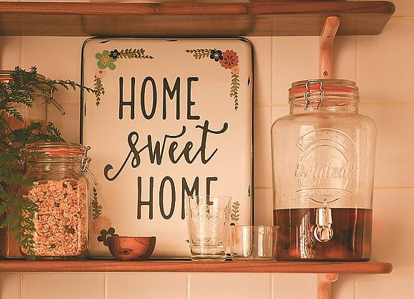 Home Sweet Home Metal Tin Sign