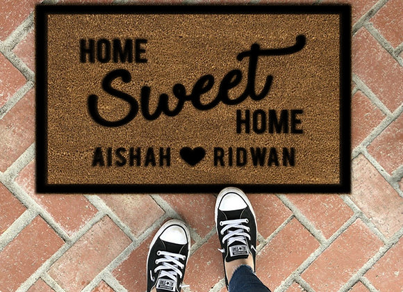 Home Sweet Home - Custom Coir Mat
