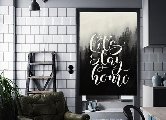 Let's Stay Home Forest Door Curtain