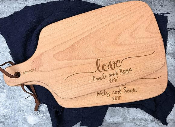 Wedding Love Engraved Chopping Board (Under 1/4)