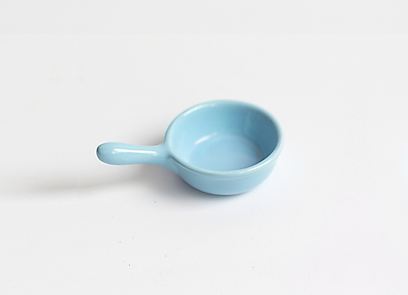 Mini Ceramic Pan Saucer - Blue