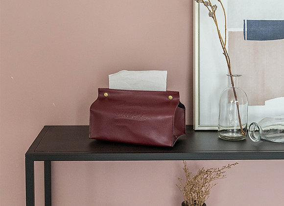 The Simple Life Button Tissue Cover - Red