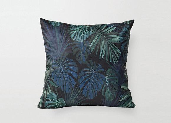Black Foliage Cushion Cover