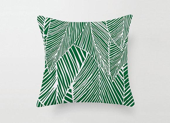 Green Veins Cushion Cover