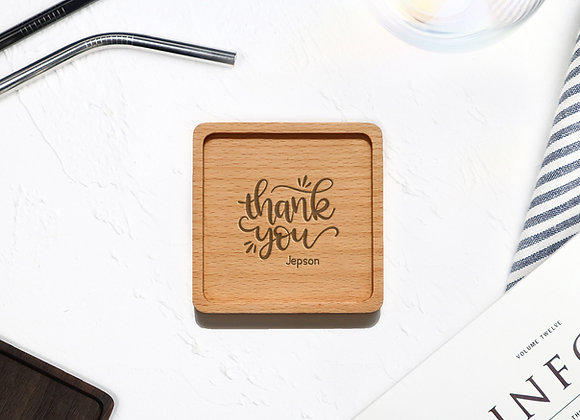 Personalised Thank You Coaster