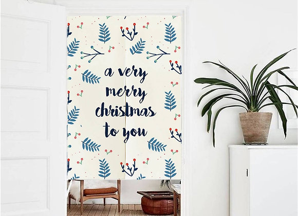 Very Merry Christmas Door Curtain