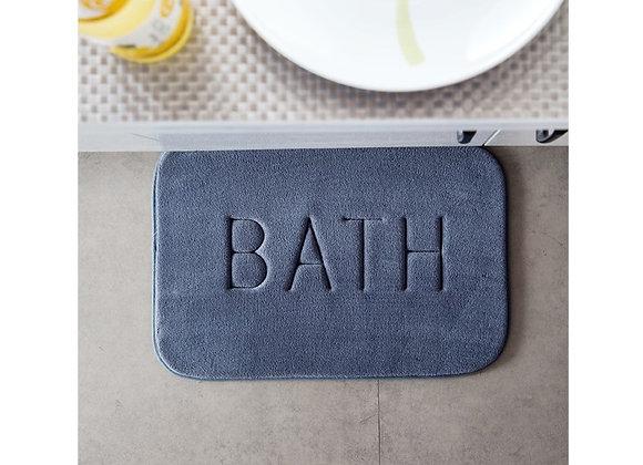Grey Bath Memory Foam Floor Mat
