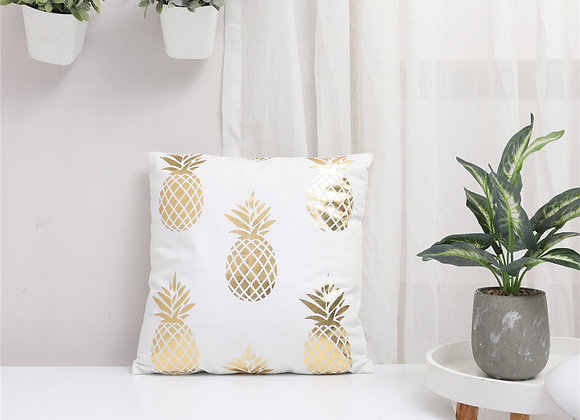 Pineapple Gold Foil Cushion Cover