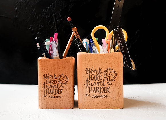 Work Hard Travel Harder Stationery Holder