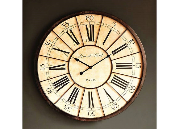 60cm Vintage Roman Grand Hotel Oversized Wall Clock