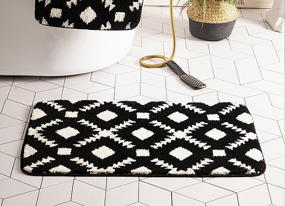 Monochrome Diamond Bath Mat