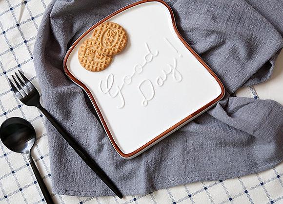 Minimalist Good Day Breakfast Toast Plate