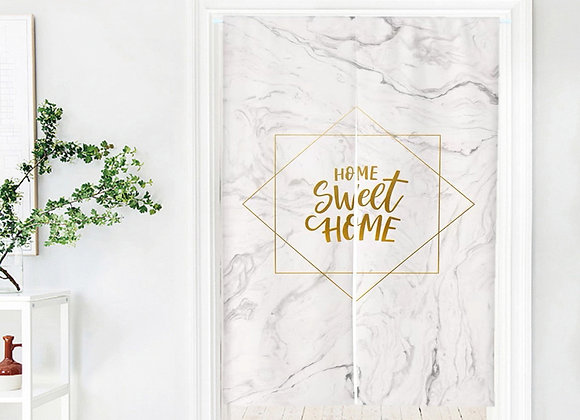 Marble Home Sweet Home Door Curtain