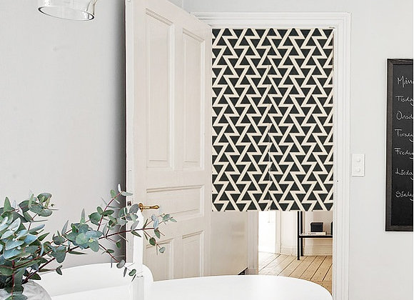 Monochrome Zig Zag Door Curtain