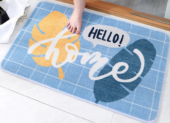 Hello Home Blue Bath Mat