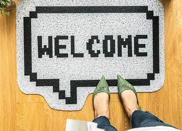 Welcome Speech Bubble Coil Mat