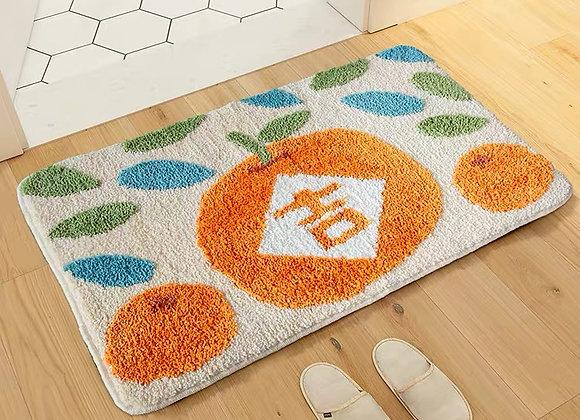 Mandarin Orange CNY Bath Mat