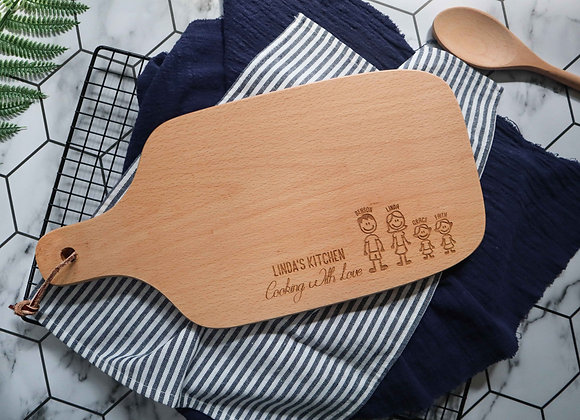 Family Engraved Chopping Board (Under 1/4)